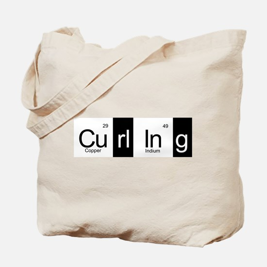 Curling Elementally Tote Bag