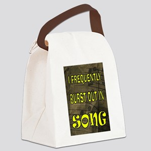 SONG BURST Canvas Lunch Bag
