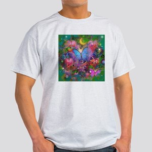 Peacock Butterflies & Blue Morpho Light T-Shirt