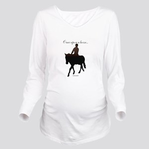 Horse Theme Design # Long Sleeve Maternity T-Shirt