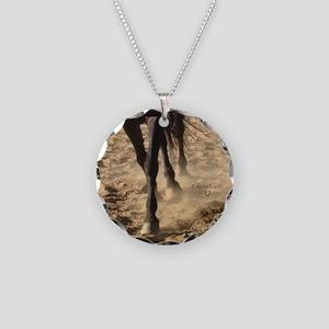 Horse Theme Design #40000 Necklace Circle Charm