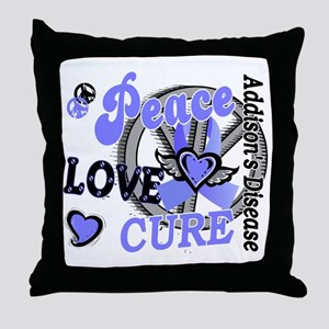 Peace Love Cure 2 Addison's Throw Pillow