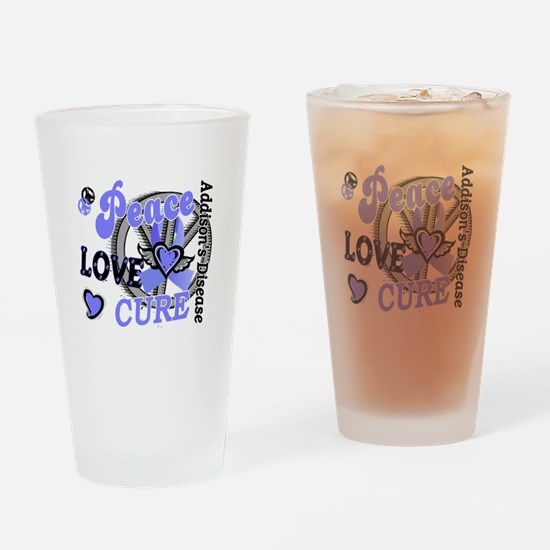 Peace Love Cure 2 Addison's Drinking Glass