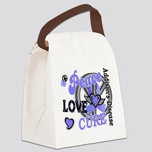 Peace Love Cure 2 Addison's Canvas Lunch Bag