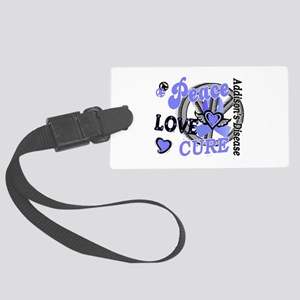 Peace Love Cure 2 Addison's Large Luggage Tag