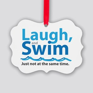 Laugh and Swim Picture Ornament