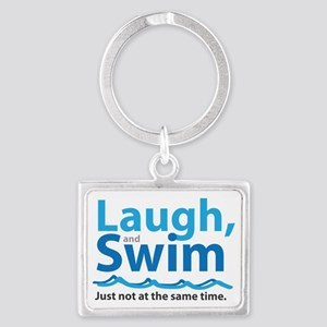 Laugh and Swim Landscape Keychain