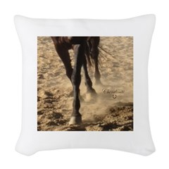 Horse Theme Design #40000 Woven Throw Pillow