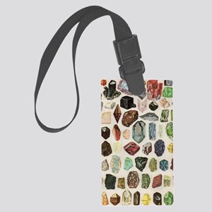 Vintage Geology Rocks Gems Gemst Large Luggage Tag