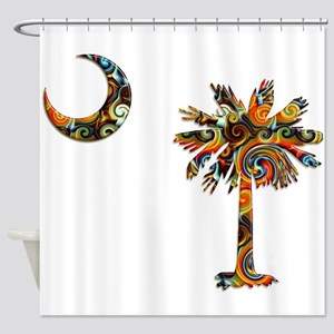 C and T 7 Shower Curtain