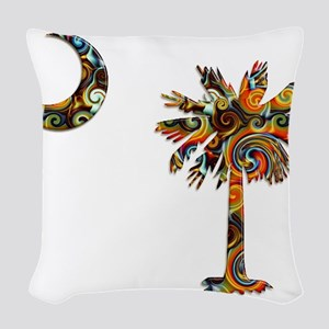 C and T 7 Woven Throw Pillow