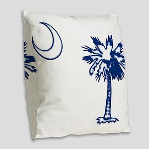 C and T 8 Burlap Throw Pillow