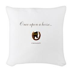 Horse Theme Design #46000 Woven Throw Pillow