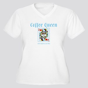 Coffee Queen Women's Plus Size V-Neck T-Shirt