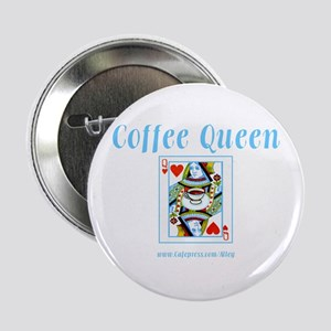 """Coffee Queen 2.25"""" Button (10 pack)"""
