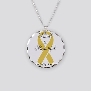 Microcephaly Awareness Necklace Circle Charm