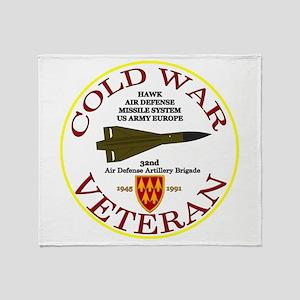 Cold War Hawk Europe Throw Blanket