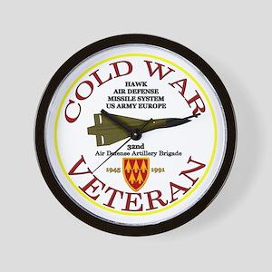 Cold War Hawk Europe Wall Clock