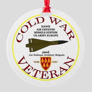 Cold War Hawk Europe Round Ornament