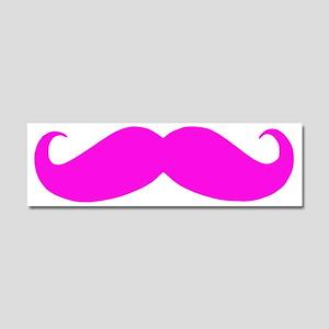 Pink Mustache Car Magnet 10 x 3