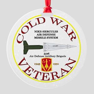 Cold War Nike Hercules 31st ADA Round Ornament