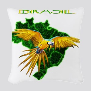Brasil - Arara Woven Throw Pillow