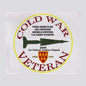 Cold War Nike Hercules Europe Throw Blanket