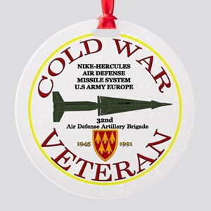 Cold War Nike Hercules Europe Round Ornament