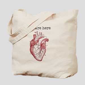 Anatomically Correct Heart Tote Bag