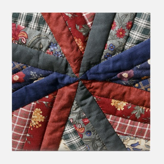 Amish Patchwork Quilt Tile Coaster