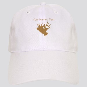 Custom Brown Elk Head Baseball Cap
