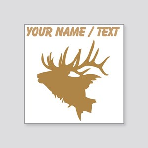 Custom Brown Elk Head Sticker