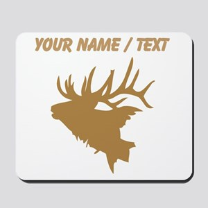 Custom Brown Elk Head Mousepad
