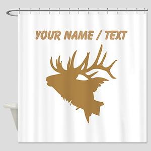 Custom Brown Elk Head Shower Curtain