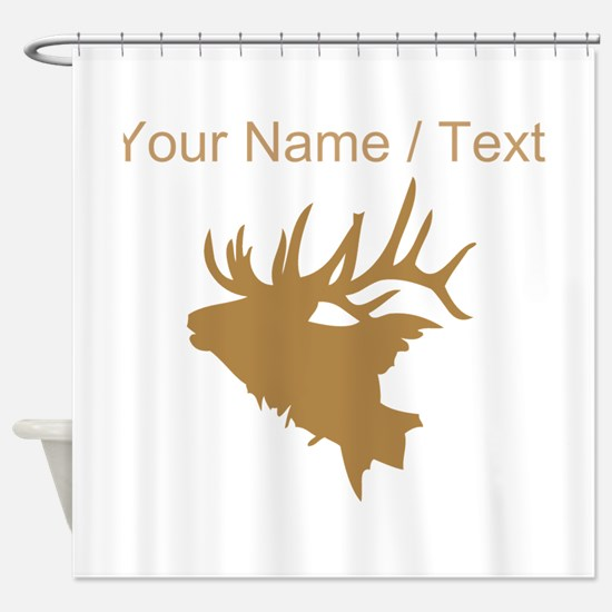 Custom Brown Elk Head Shower Curtain