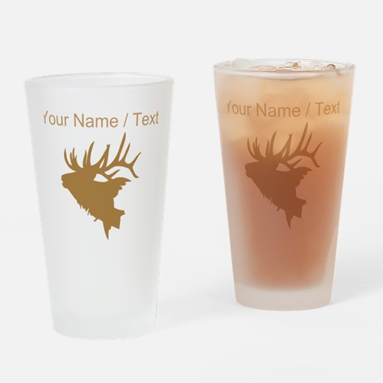 Custom Brown Elk Head Drinking Glass