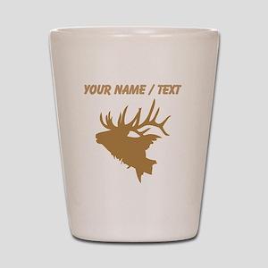 Custom Brown Elk Head Shot Glass