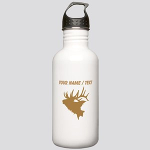 Custom Brown Elk Head Water Bottle