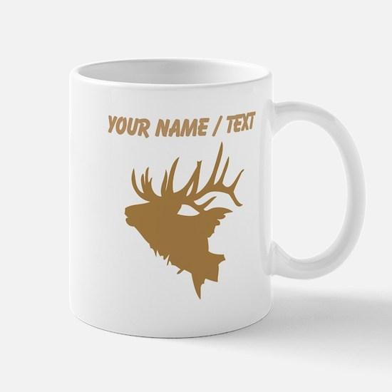 Custom Brown Elk Head Mugs