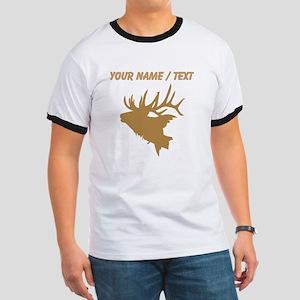 Custom Brown Elk Head T-Shirt