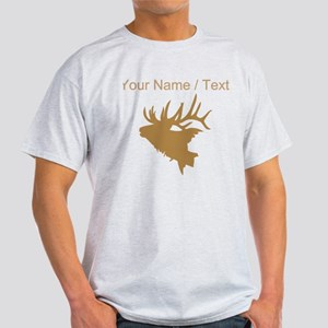 Custom Brown Elk Head T-Shirt
