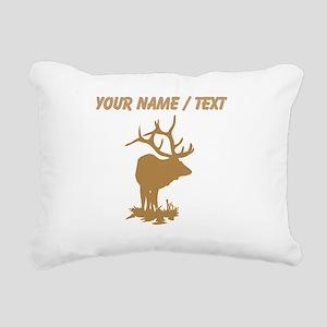 Custom Brown Elk Silhouette Rectangular Canvas Pil