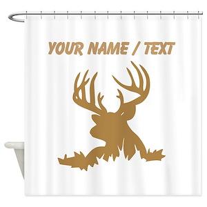 Deer Silhouette Shower Curtains