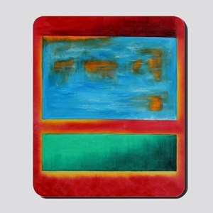 ROTHKO IN RED BLUE GREEN 2 Mousepad
