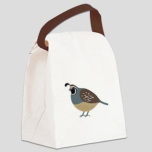 Valley Quail Canvas Lunch Bag