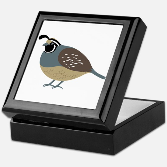 Valley Quail Keepsake Box