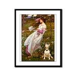 Windflowers Bull Terrier Framed Panel Print