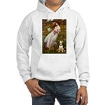 Windflowers Bull Terrier Hooded Sweatshirt