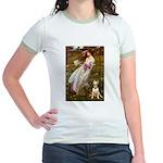 Windflowers Bull Terrier Jr. Ringer T-Shirt