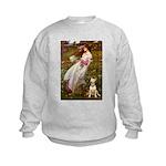 Windflowers Bull Terrier Kids Sweatshirt